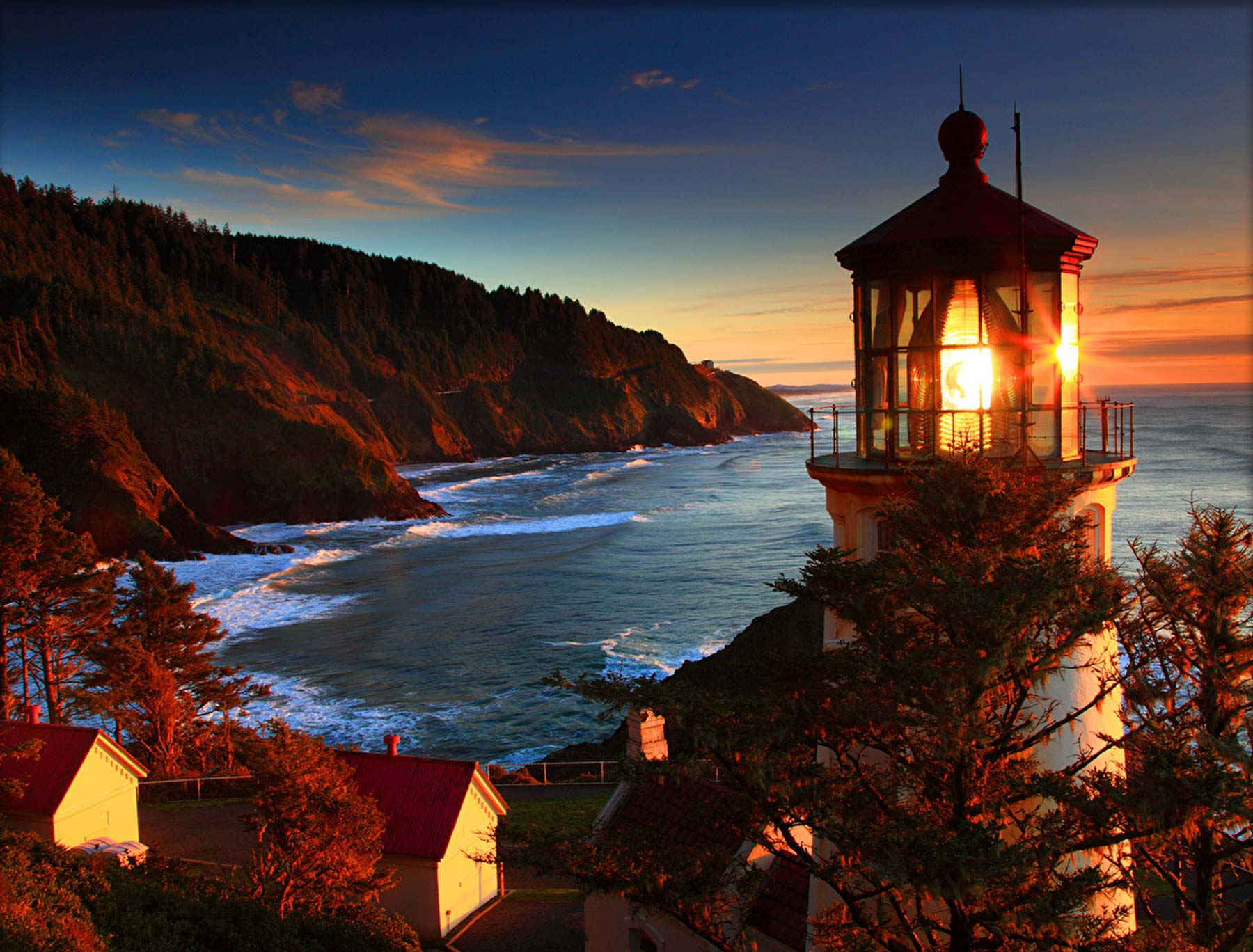 Lighthouse along the Oregon Coast