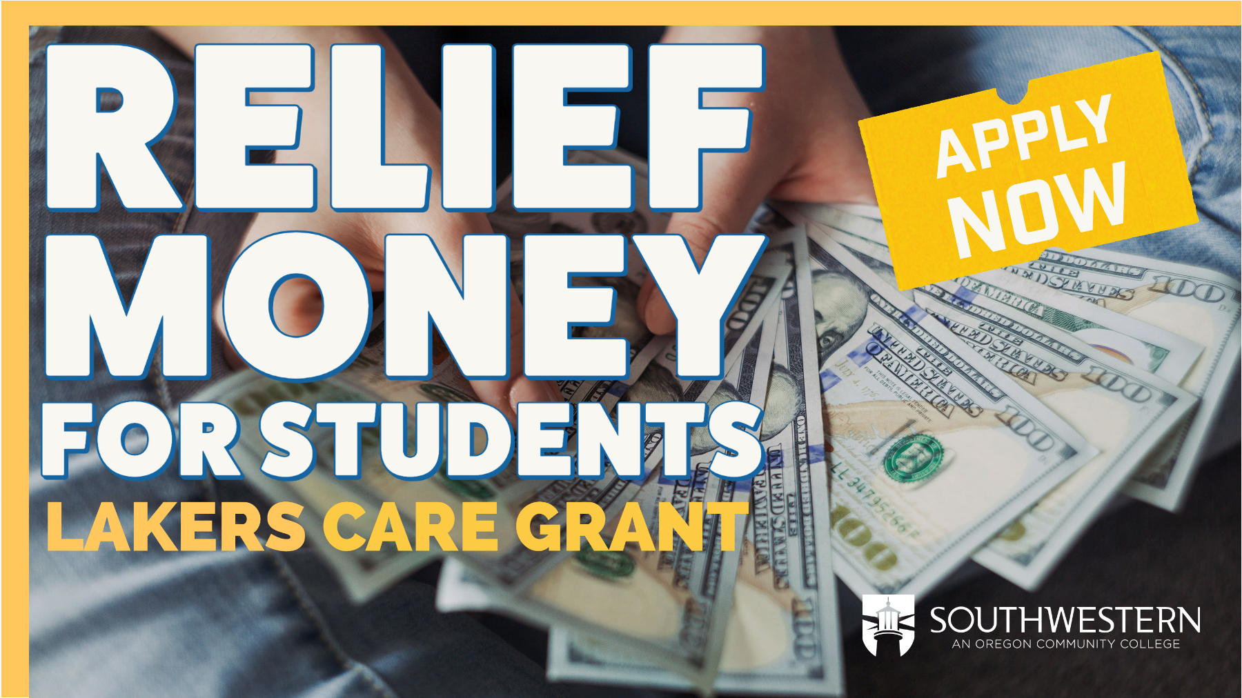Relief Money for Students Lakers Care Image