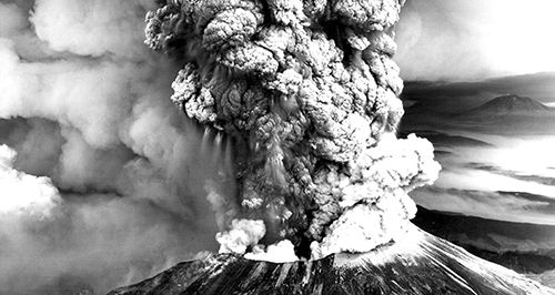 Photo of Mount St Helens eruption