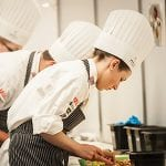 Three student in the culinary program at OCCI
