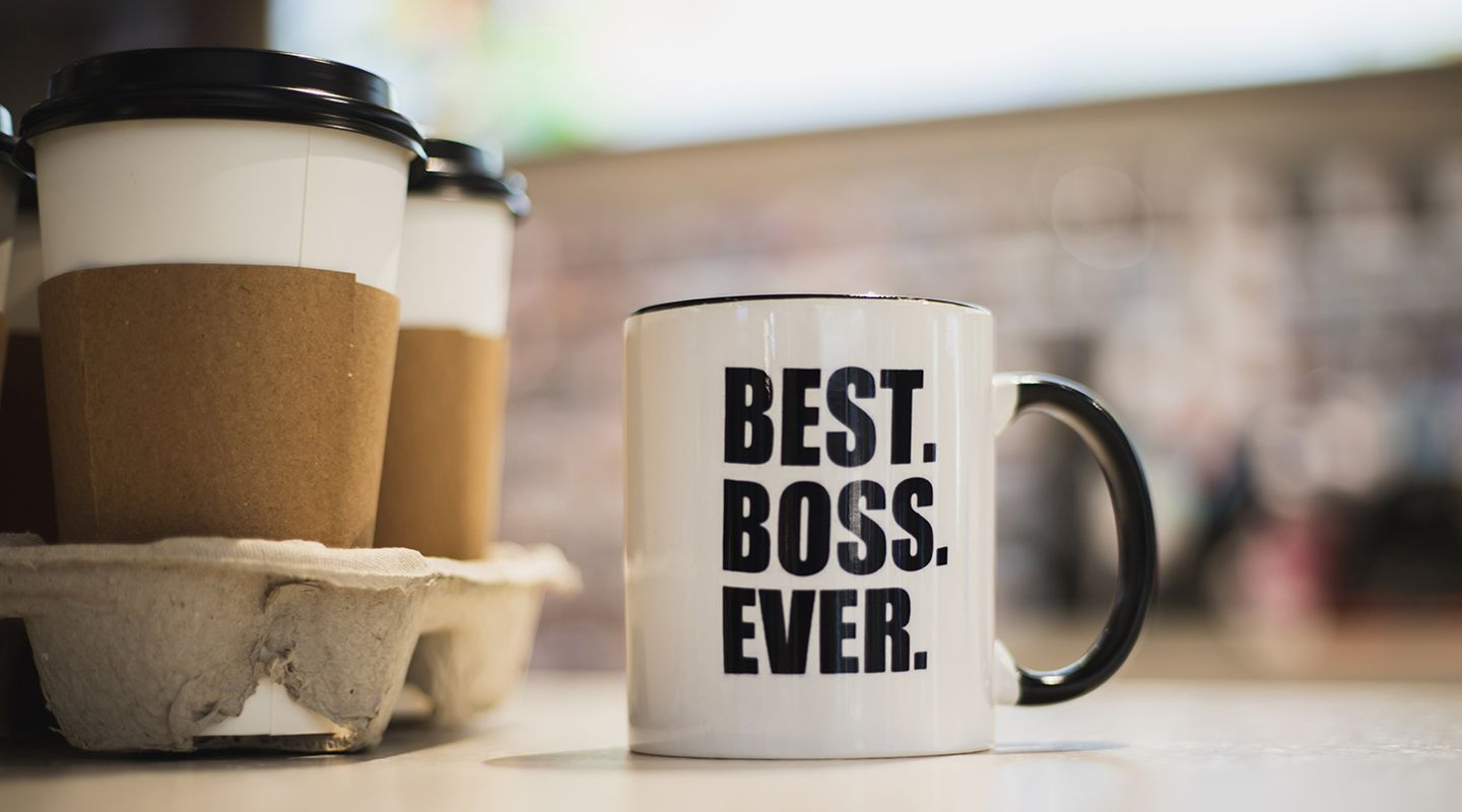 "photo of mug displaying ""best boss ever"""