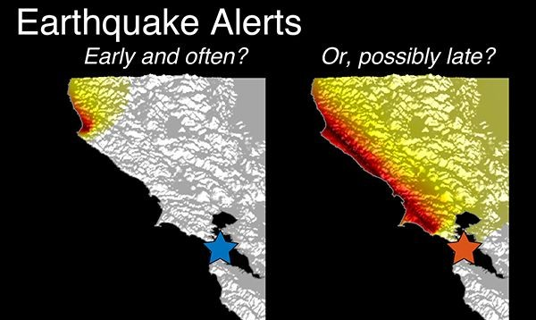 Earthquake alerts graphic